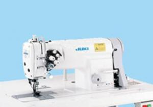 "Juki LH3528 1/4"" Double Needle Feed, Lockstitch Sewing Machine, Stand"