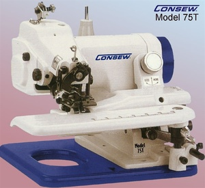 Consew 75T Portable Professional Blind Hem Chain Stitch Hemmer Machine, Skip Stitch, Knee Lever for Swing Down Cylinder Arm Bed +50 Curved Needles $70