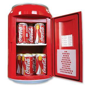 Koolatron CC10 Portable Coca Cola 8 Can Fridge Cooler, 13x13x20�?, 120V/12V, 11Lb, up to 40 �F below ambient temp for Offices Dorms Kitchens Living Room