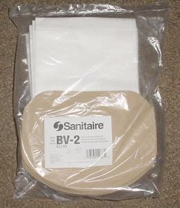 Sanitaire 62370 Style BV2 10Pk Backpack Vacuum Cleaner Bags for SC412A