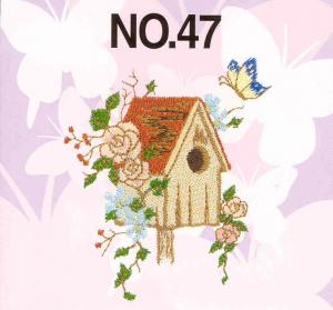 Brother No.47 Butterfly Embroidery Card SA347