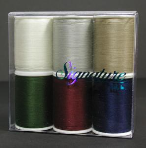 A&E, Signature, GP43, 100% Cotton, Machine Quilting, Thread, Sampler Box, - 6 Solid Colors, Kit