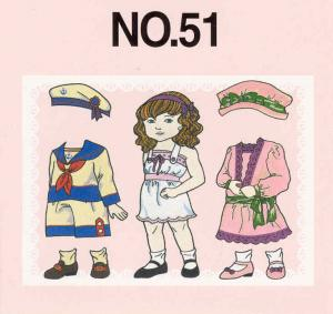 Brother No.51 Paper Dolls Embroidery Card SA351 For Larger Brother And Baby Lock Machines