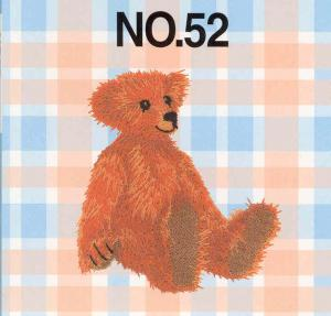 Brother No.52 Bears Collection Embroidery Card SA352