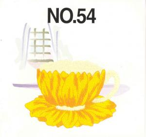 Brother No.54 Tea Time Embroidery Card SA354 For Brother, Baby Lock