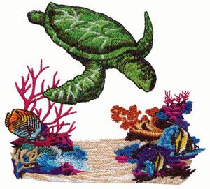 Amazing Designs ADP-1 Tropical Waters I Embroidery Designs CD