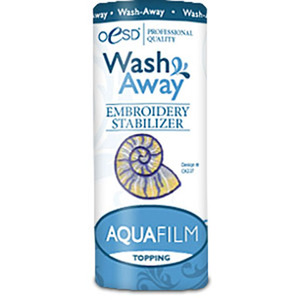"OESD, HBAQUW-4, Aqua Film, Water Soluble, Topping, Washaway, Stabilizer ,4"" x 20yds, Yards, Roll, Keeps Stitches, from Sinking, into Nap, or Texture, of Fabrics"