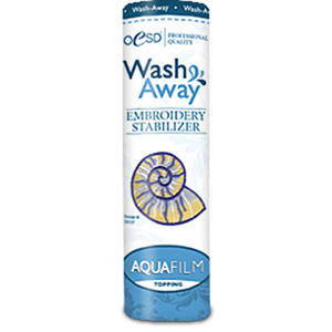 OESD AquaFilm Lightweight Water Soluble Washaway Topping Embroidery Stabilizer 8 Inch x 10 Yards Roll