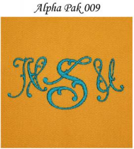 Monogram Wizard Alpha Pak 009 Fonts CD for Needleheads Monogram Wizard Plus Custom Alphabet Lettering Embroidery Machine Software ONLY alpha pack