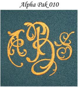 Monogram Wizard AlphaPak 010 Fonts CD for Needleheads Monogram Wizard Plus Custom Alphabet Lettering Embroidery Machine Software ONLY Alpha Pack