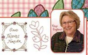 OESD PC821S Kaye's Cottage By Kaye England Embroidery Designs Multi-Formatted USB Stick in ART, PES, PCS, DST, HUS, JEF, XXX, SEW, and EXP Formats