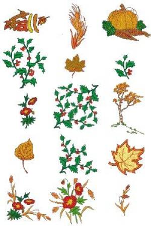 Down Home Dreams 152 Autumn Splendor Embroidery Designs Floppy Disk