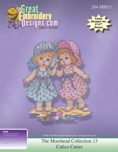 Great Notions 111634 Morehead Licensed Collection Calico Cuties Designs Embroidery Designs Multi-Formatted CD