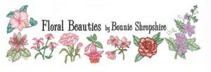 OESD PC820B Floral Beauties by Bonnie Shropshire Embroidery Designs Brother Card