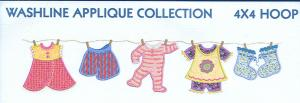 Smartneedle Washline Applique Collection 4X4 Embroidery Designs Multi-Formatted CD