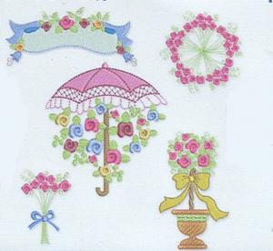Smartneedle Miniature Flowers Collection 4x4 Embroidery Designs Multi-Formatted CD