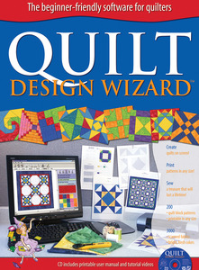 QUILT DESIGN WIZARD, Electric Quilt EQ-50 Design Wizard Software, 200 Blocks, 3000 Fabrics