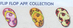 Smartneedle Flip Flop Applique 4X4 Embroidery Designs Multi-Formatted CD
