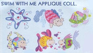 Smartneedle Swim with Me Collection 4X4 Embroidery Designs Multi-Formatted CD