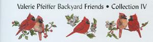 Great Notions 207B-VP4 Valerie Pfeiffer Backyard Friends Collection IV Emb. Designs Brother Card