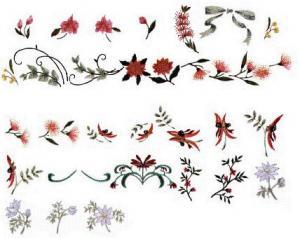 Elna 119 Australian Floral Embroidery Card