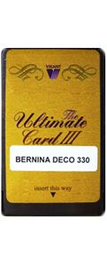 Vikant Ultimate Blank Rewritable Card For Bernina Deco 330 & 340 by Janome in EXP Format for Ultimate Box II Only , Not Bernina .ART, Not  Janome .JEF