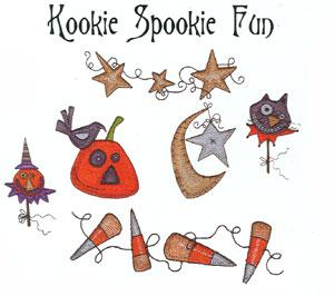 OESD PC209B Kooky Spookie Fun Halloween Embroidery Designs Card Brother pes Format