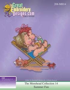 Great Notions The Morehead Collection 111748 MH14 Summer Fun Multi-Formatted CD Embroidery Designs