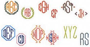 Elna MC09 Monogram Envision Embroidery Card Emblem