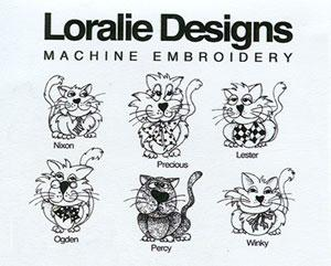 Loralie SophistiKitties 630403  Embroidery Designs on Multi-Formatted CD