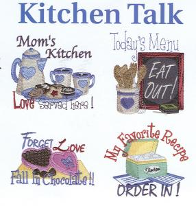 Dakota Collectibles 970253 Kitchen Talk pie cake Chicken Banana spliteggs Kitchen chef