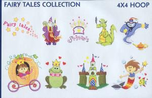 Smartneedle Fairy Tales Collection 4X4 Embroidery Designs Multi-Formatted CD