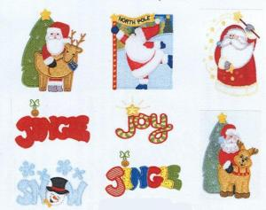 Sew Many Designs Jingle All The Way Applique Santa Reindeer Candy CaneSnow