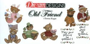 OESD PC833B Old Friend Teresa Kogut Embroidery Designs Card Bears