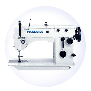 "Yamata, FY20U43, Straight, & up to 12mm,  ZigZag, Industrial, Sewing Machine, Knee Lifter, Unassembled, Power Stand, 2000 SPM, Like Singer 9mm ZZ, 100 Needles, Yamata FY20U43 (Singer 20u83) 12mm ZigZag, 6mm Straight Stitch Sewing Machine 15 3/4x7"" Flatbed, KD Power Stand 2000SPM, 1/2"" Knee Lifter, 100Needles*"