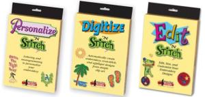 Amazing Designs Personalize N StitchII, Digitize N Stitch, Edit N Stitch II Embroidery Software Combo, 5 Extras!nohtin