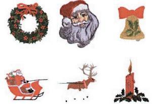 Elna MC34 Christmas Envision Embroidery Card