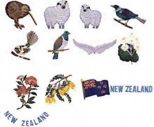 Elna MC37 New Zealand Envision Embroidery Card