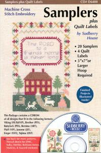 Sudberry House D6400 Samplers Plus Quilt Labels Cross Stitch Embroidery Design Multi-Formatted CD