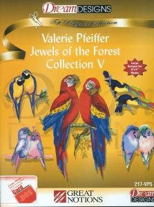 OESD GC217B-VP5 Valerie Pfeiffer Jewels Of The Forest Collection 5 Embroidery Designs Brother Card