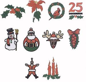 Elna MC40 Christmas Series 2 Envision Embroidery Card