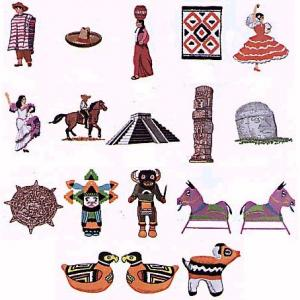 Elna U101 Gobelin Mexican Designs Embroidery Card