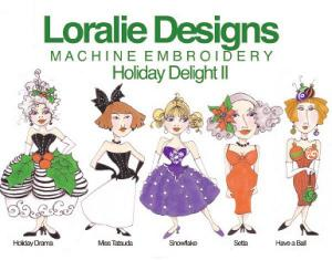 Loralie Machine Embroidery Designs 630347 Holiday Delight 2 Multi-Formatted CD
