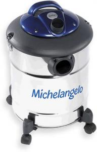 Emer BD210 Michelangelo Drum Barrel Wet and Dry Vacuum Cleaner, Silver/Blue