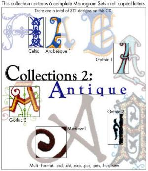 Embroideryarts 01X02 Collections 2 Antique Embroidery CD