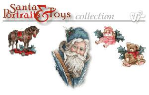 Vermillion Stitchery 70300 Santa Portraits & Toys Cross Stitch Machine Embroidery Designs Multi-Formatted CD