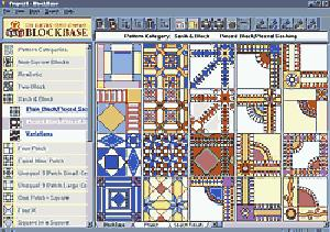 Electric Quilt A-BBW00 BlockBase Block Quilting Resource Software