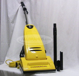 "Carpet Pro, CPU-2T, CPU2T , Commercial, Upright Vacuum Cleaner, 10 amps, with On-Board Tools, CPU2T, 40' 3-Wire Cord, 12"" Cleaning, & Metal Handle , Brush Roll, Bottom Plate"