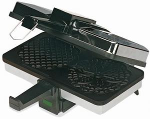 """Cucina Pro 220-05NS Pizzelle Baker - 2.5"""" diameter with Non-Stick Grids"""
