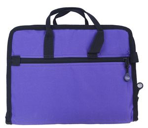 "Bluefig Bags, NB Notions Bag, 20"" x 12"", Sleeve Pocket, 12 zippered pockets, in 3 sizes, in clear plastic, so contents can be seen, strap, fits over handle, of TB20"